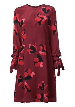 Akris Punto floral patterned dress - Red