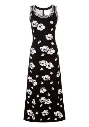 Carolina Herrera floral knit dress - Black