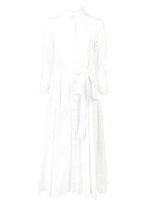 Carolina Herrera perforated shirt dress - White