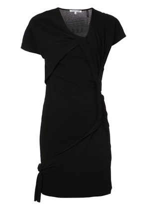 Helmut Lang twist detail dress - Black