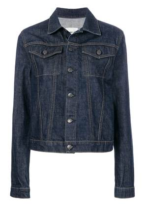 Helmut Lang striped detail denim jacket - Blue