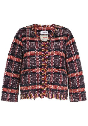 COOHEM tweed fitted blazer - Red