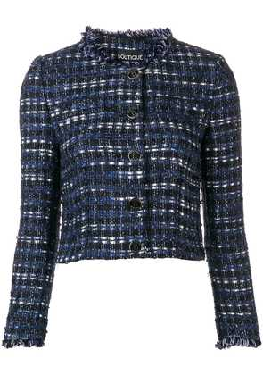 Boutique Moschino cropped tweed jacket - Blue