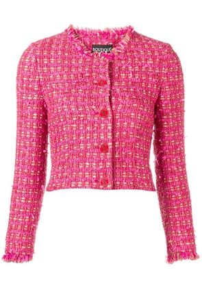 Boutique Moschino cropped tweed jacket - Pink