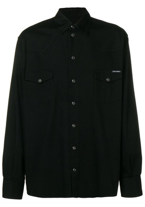 Dolce & Gabbana snap button fastening shirt - Black