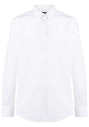 Dolce & Gabbana polka-dot embroidered shirt - White