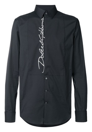 Dolce & Gabbana embroidered logo shirt - Black