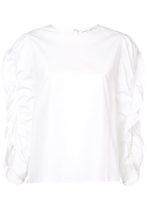 Carolina Herrera ruffled sleeve blouse - White