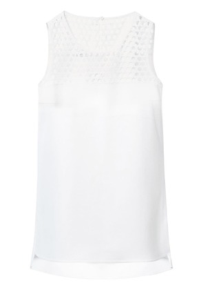 Akris Punto sleeveless mesh detail blouse - White