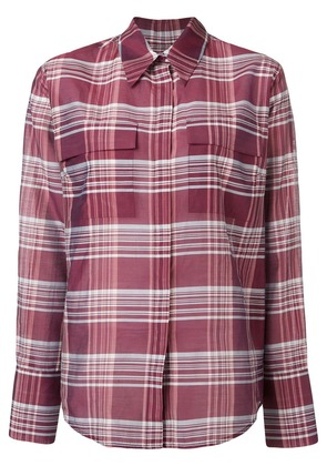 Christian Wijnants check loose blouse - Red