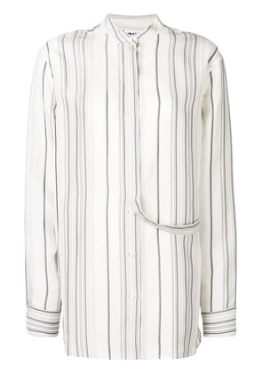Jil Sander Giusy striped shirt - White