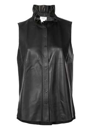 Akris Punto ruffled neck vest - Black