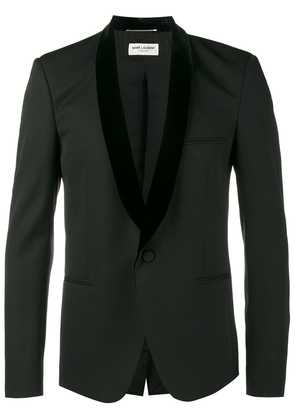 Saint Laurent velvet shawl lapel suit jacket - Black