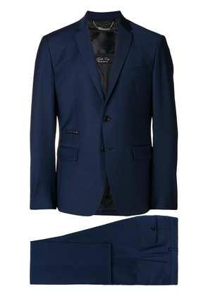 Philipp Plein two piece fitted suit - Blue