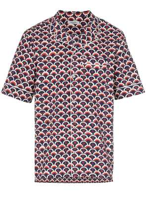 Valentino short sleeved scale print shirt - Red
