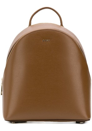 DKNY leather backpack - Brown