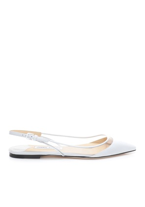 ERIN FLAT White and Clear Nappa with Plexi Slingback Flats