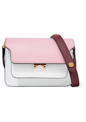 Marni - Trunk Small Color-block Textured-leather Shoulder Bag - Baby pink