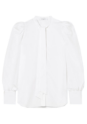 Givenchy - Pussy-bow Cotton-poplin Blouse - White