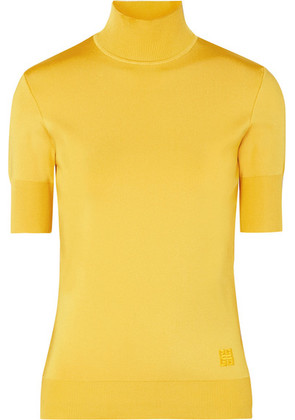 Givenchy - Knitted Turtleneck Top - Yellow