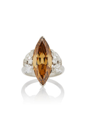 Simon Teakle One-Of-A-Kind Fancy Brown/Yellow Diamond Ring