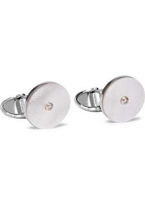 Dunhill - Sterling Silver, Mother-of-pearl And Diamond Cufflinks - Silver