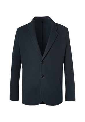 Hamilton and Hare - Navy Textured Cotton-blend Suit Jacket - Navy