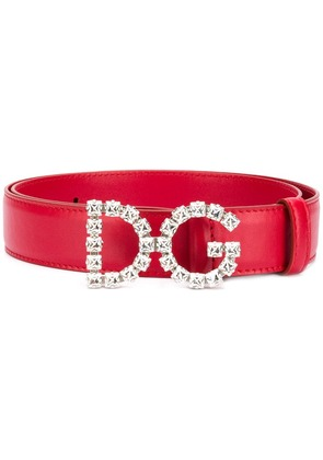 Dolce & Gabbana DG leather belt - Pink