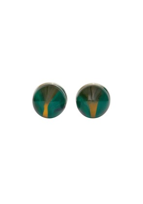 Burberry marble and brass sphere cufflinks - Green