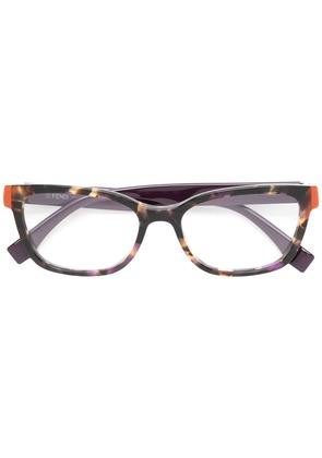 Fendi Eyewear square frame glasses - Brown