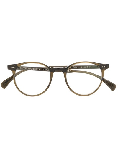 e654118a80e Oliver Peoples round frame glasses