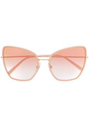 Dolce & Gabbana Eyewear cat-eye shaped sunglasses - Gold