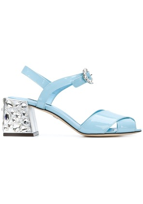 Dolce & Gabbana crystal heeled sandals - Blue