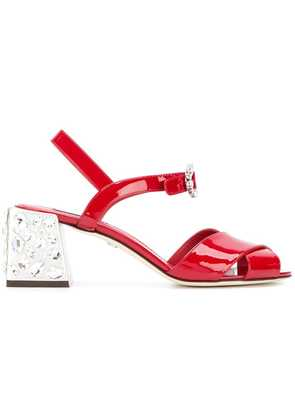 Dolce & Gabbana Keira gemstone embellished sandals - Red