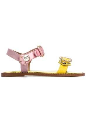Dolce & Gabbana appliqué sandals - Yellow