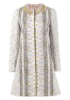 Giambattista Valli embroidered tweed coat - Multicolour