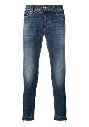 Dolce & Gabbana faded straight leg jeans - Blue