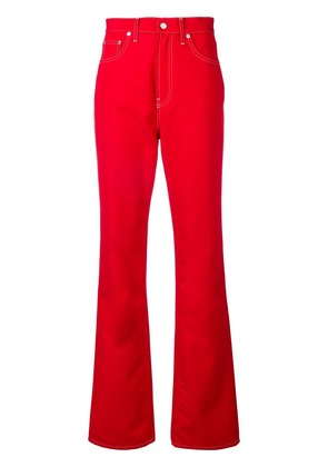 Helmut Lang wide-leg jeans - Red