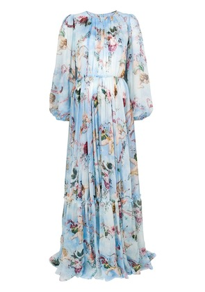 Dolce & Gabbana Cupid print maxi dress - Blue