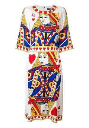 Dolce & Gabbana queen of hearts dress - Multicolour