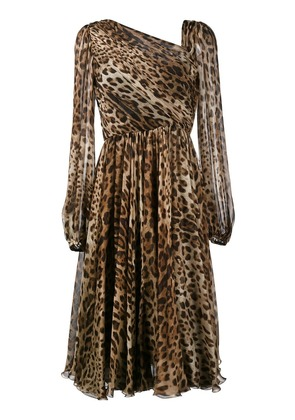 Dolce & Gabbana leopard print dress - Brown