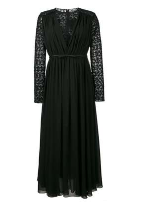 Giambattista Valli macrame lace long sleeve dress - Black