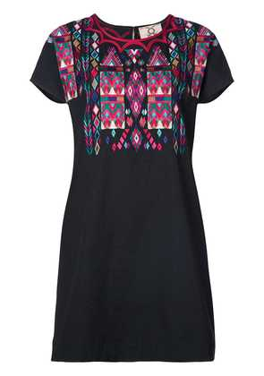 Figue Tia embroidered T-shirt dress - Black