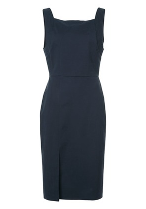 Adam Lippes ribbed detail fitted dress - Blue