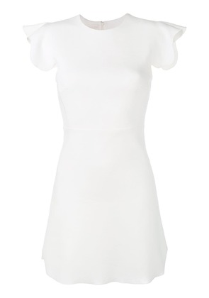Giambattista Valli scalloped sleeve dress - White