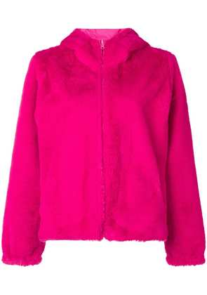 P.A.R.O.S.H. faux fur hooded jacket - Pink