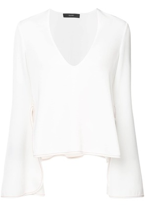 Ellery Proteus flared sleeve blouse - White