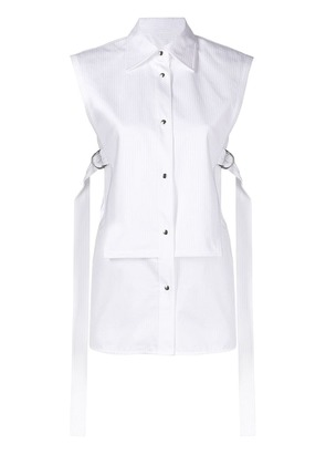 Helmut Lang sleeveless bib shirt - White