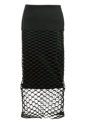 Dion Lee honeycomb cut-out skirt - Green