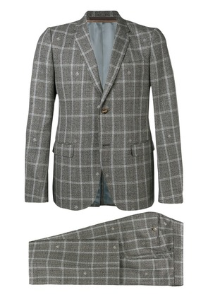Gucci two-piece check suit - Grey